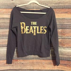 The beatles off shoulder sweatshirt
